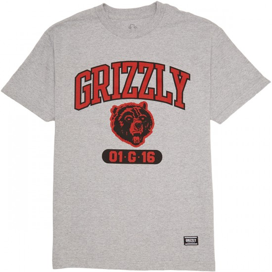 Grizzly Halftime T-Shirt - Heather Grey