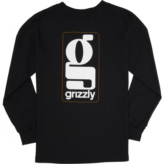 Grizzly Gentlemans Longsleeve T-Shirt - Black