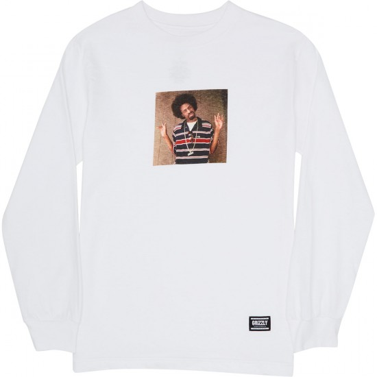 Grizzly M To The D Long Sleeve T-Shirt - White