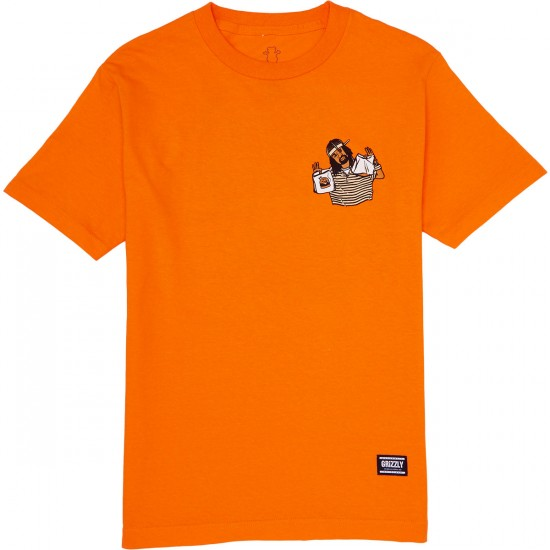 Grizzly Thizzly Burger T-Shirt - Orange