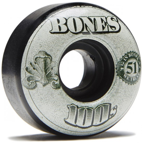 Bones 100's #11 Skateboard Wheels - Black - 51mm