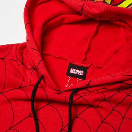 Grizzly X Spiderman Webbed Hoodie Red Spider Man Marvel