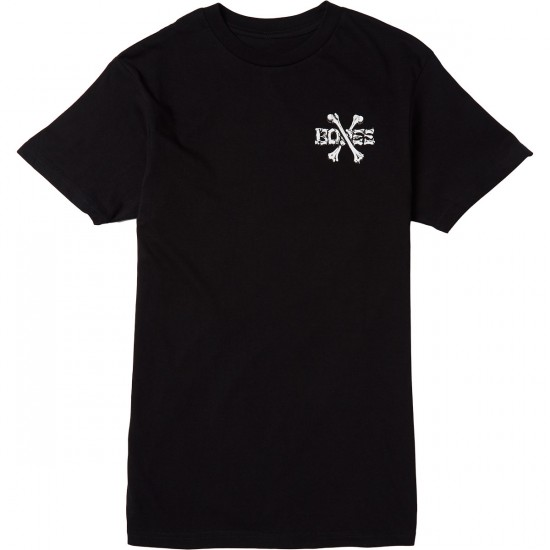 Bones Crossbones T-Shirt - Black
