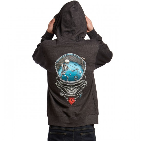 Powell-Peralta Mighty Pool Skull Hoodie - Charcoal
