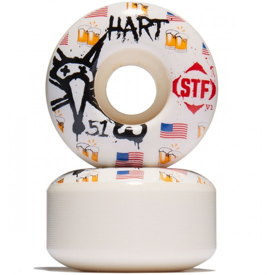 Bones STF Hart Cheers Skateboard Wheels - 51mm