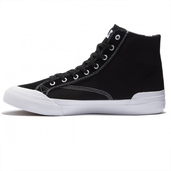 HUF Classic Hi ESS Shoes - Black/White - 9.5