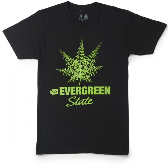 Casual Industrees The Evergreen State T-Shirt - Black