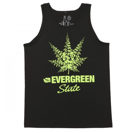 Casual Industrees The Evergreen State Tank Top - Black