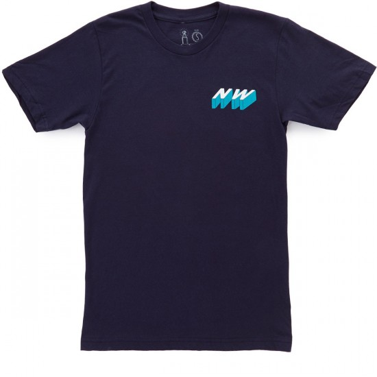Casual Industrees Great NW 3D T-Shirt - Navy Blue
