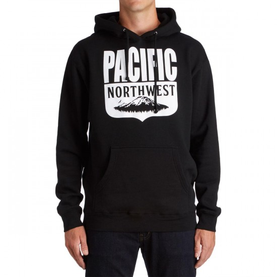 Casual Industrees PNW Shield Pullover Hoodie - Black