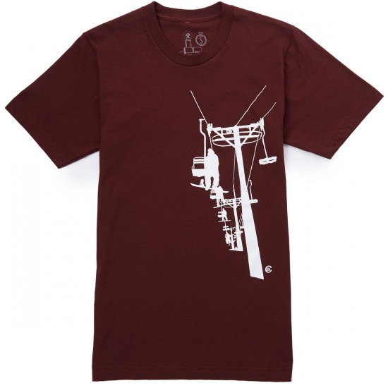 Casual Industrees Chairlift T-Shirt - Truffle