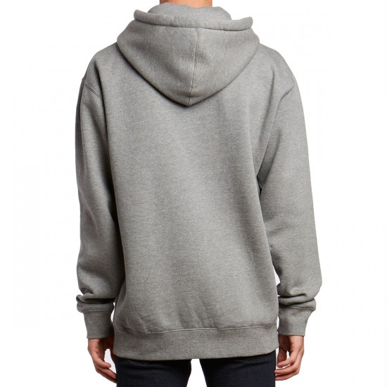 Casual Industrees C-Logo Sport Pullover Hoodie - Heather Gunmetal