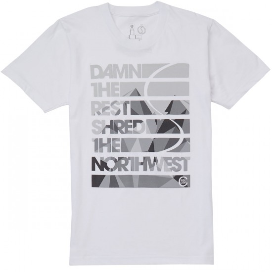 Casual Industrees Dame The Rest T-Shirt - White