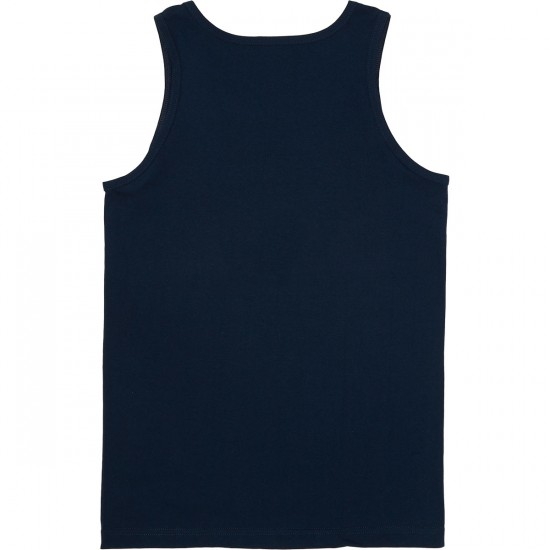 Casual Industrees Wa Brah Tank Top - Navy Blue