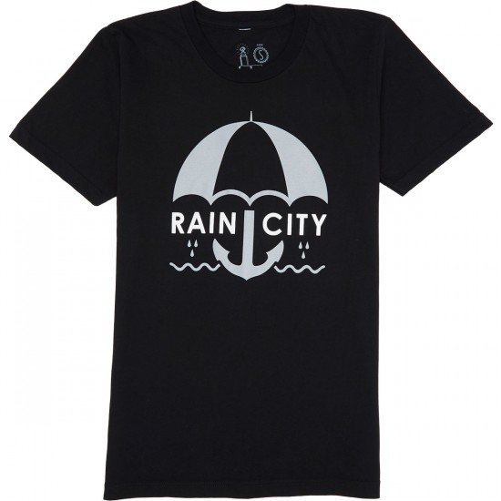 Casual Industrees Rain City T-Shirt - Black