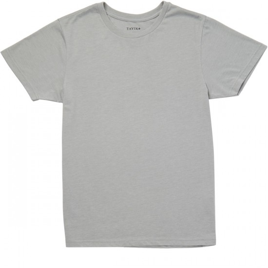 Tavik Heathered T-Shirt 3 Pack - Charcoal/Indigo/Light Grey