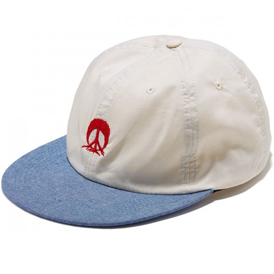 Gnarly Dino Deconstruct Hat - Vintage White