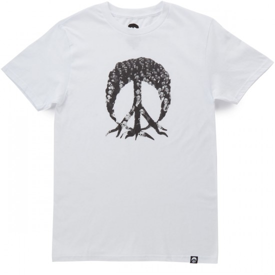 Gnarly 3D Space Tree T-Shirt - White