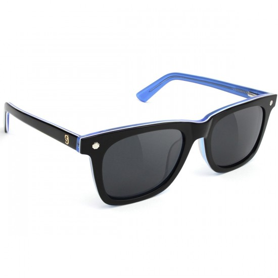 Glassy Mikemo Polarized High Roller Sunglasses - Black/Blue