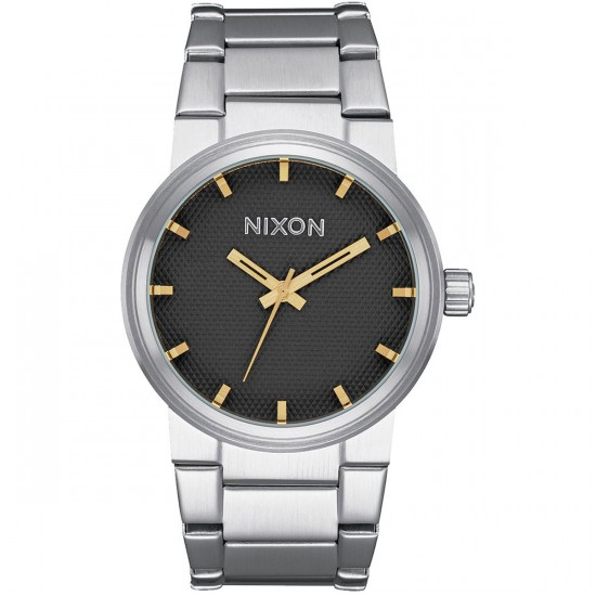 Nixon Cannon Gold: Black Stamped/Gold