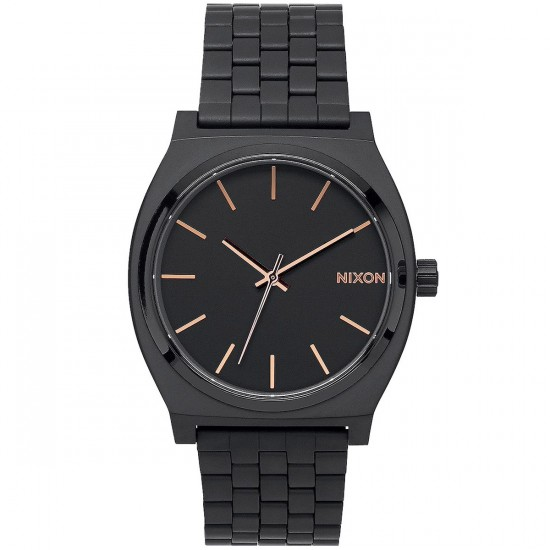 Nixon Time Teller Watch - All Black/Rose Gold