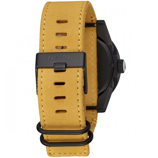Nixon Mountain Dweller Corporal Watch - All Black/Goldenrod