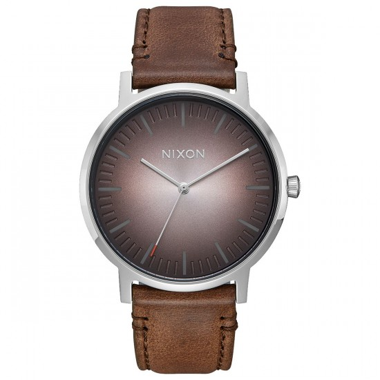 Nixon Porter Leather Watch - Ombre/Taupe