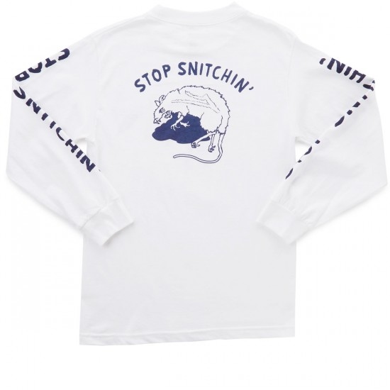 Lakai Snitch Long Sleeve T-Shirt - White