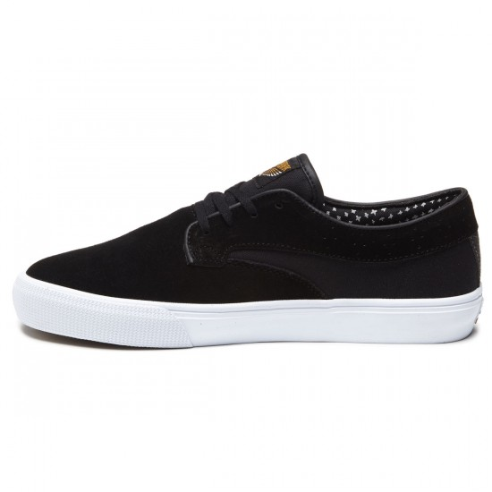 Lakai Riley Hawk Shoes - Black/Suede - 7.0