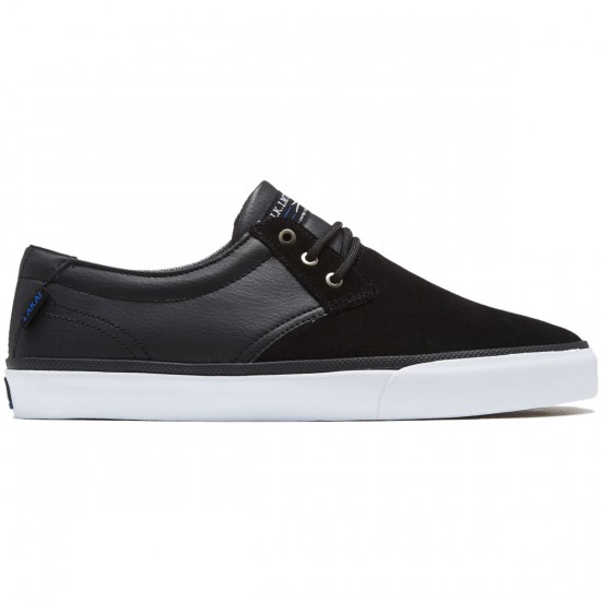 Lakai Daly Shoes - Black Suede/Black Leather - 8.0