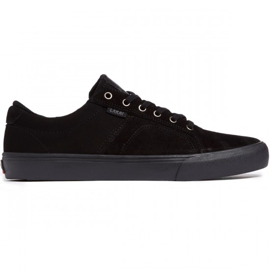 Lakai Flaco Shoes - Black/Black Suede - 7.0