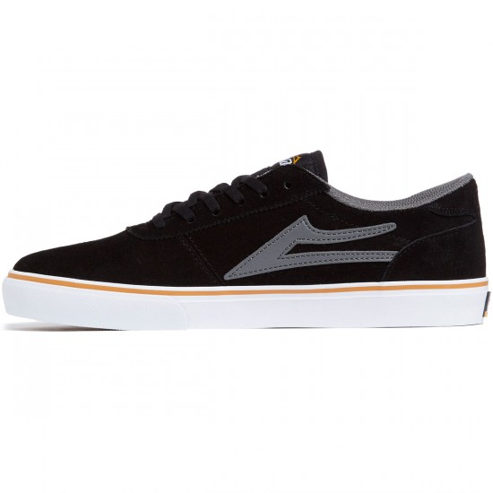 Lakai Manchester Shoes - Black/Grey Suede/White - 7.0