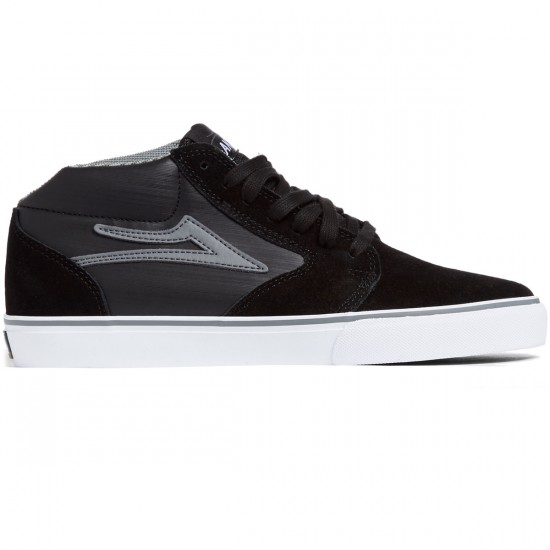 Lakai Fura High WT Shoes - Black/Grey Leather - 8.0