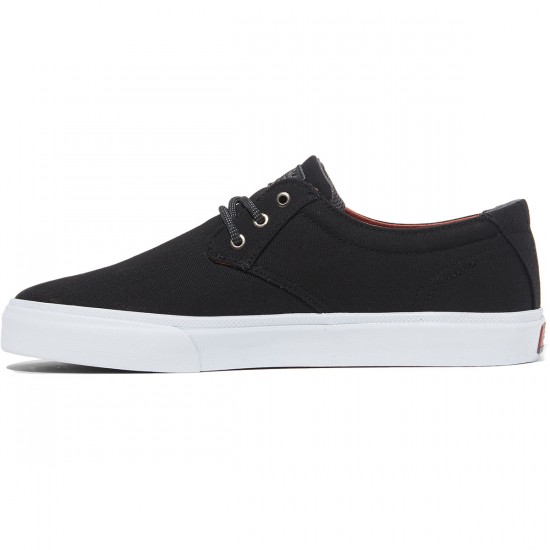 Lakai Daly Shoes - Black Canvas - 8.0