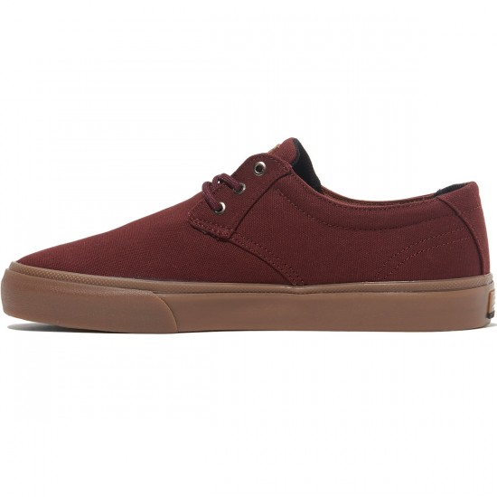 Lakai Daly Shoes - Mahogany Canvas - 8.0