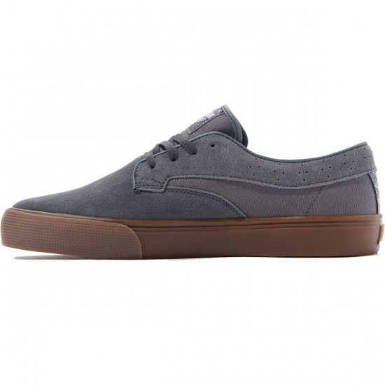 Lakai Riley Hawk Shoes - Grey/Gum Suede - 8.0