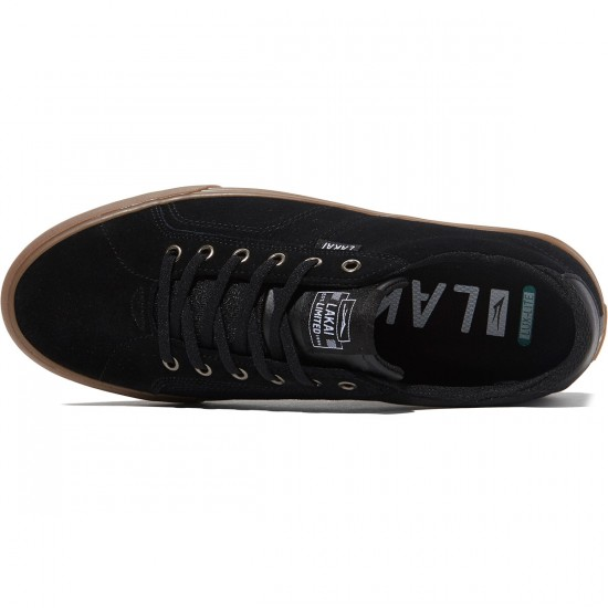 Lakai Flaco Shoes - Black/Gum Suede - 8.0
