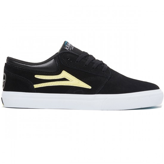 Lakai Griffin Shoes - Black/Yellow Suede - 8.0