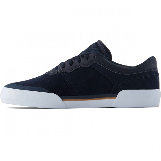 Lakai Staple Shoes - Navy Suede - 8.0