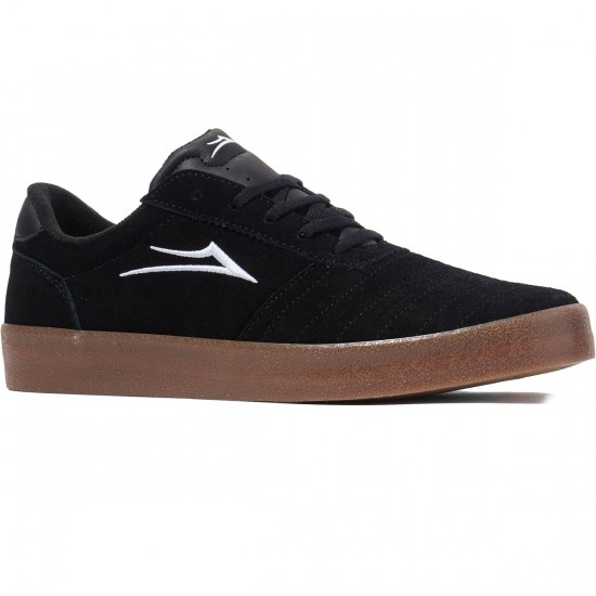 Lakai Salford Shoes - Black/Gum Suede - 8.0