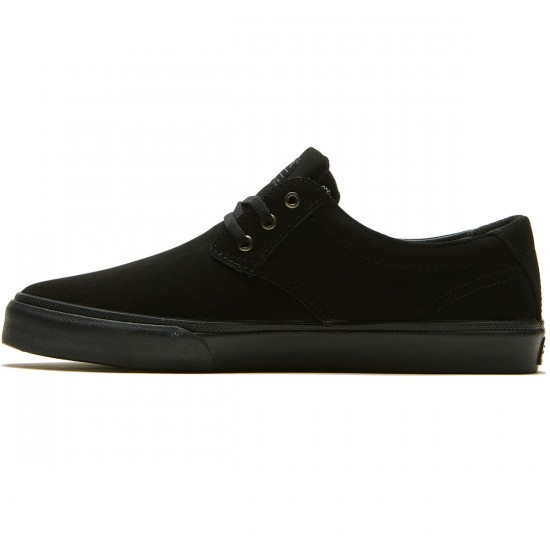Lakai Daly Shoes - Black/ Black Nubuck - 8.0