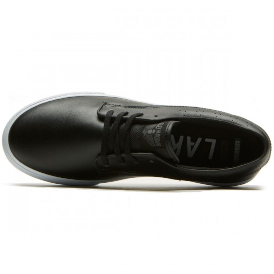 Lakai Riley Hawk Shoes - Black Leather - 8.0