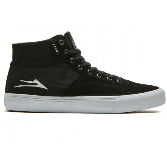 Lakai Flaco High Shoes - Black Suede - 8.0
