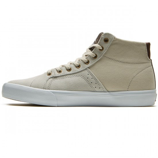 Lakai Flaco High Shoes - White Suede - 8.0