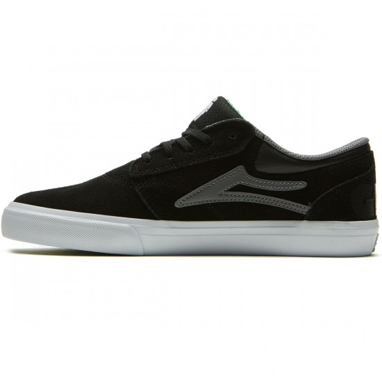 Lakai X Girl Griffin Shoes - Black/Grey Suede - 8.0