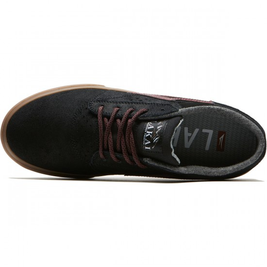 Lakai Griffin WT Shoes - Black/Gum Oiled Suede - 8.0