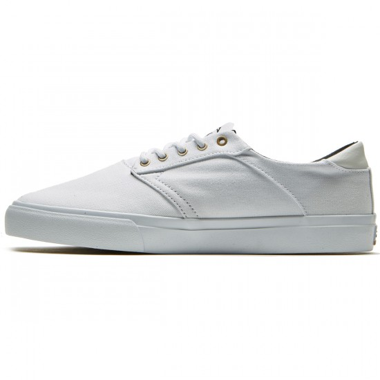 Lakai Porter Shoes - White/White Canvas - 8.0
