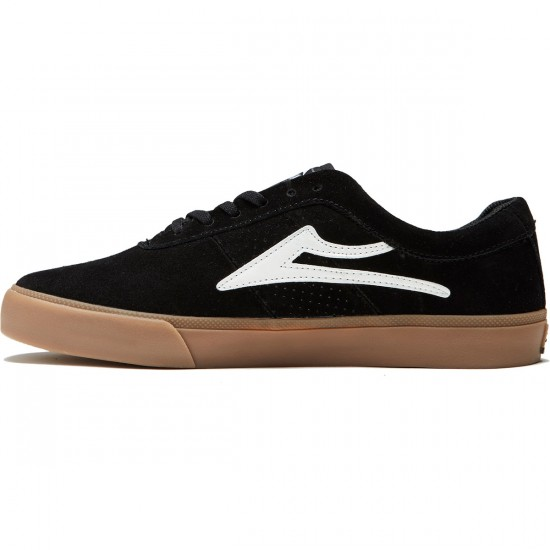 Lakai Sheffield Shoes - Black/White Suede - 8.0