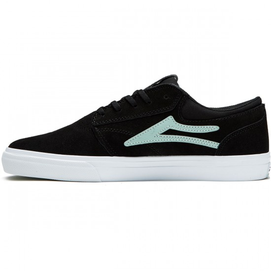 Lakai Griffin Shoes - Black/Mint Suede - 8.0