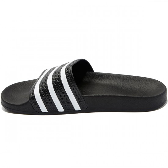 Adidas Adilette Slides - Black/White - 7.0